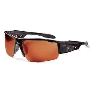 Ergodyne 52021 DAGR Polarized Copper Lens Black Safety Glasses