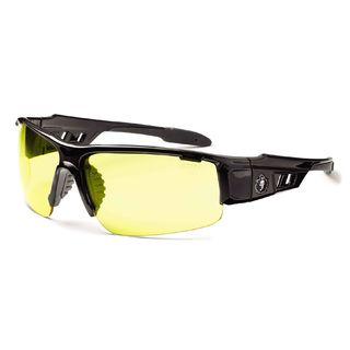 Ergodyne 52050 DAGR Yellow Lens Black Safety Glasses