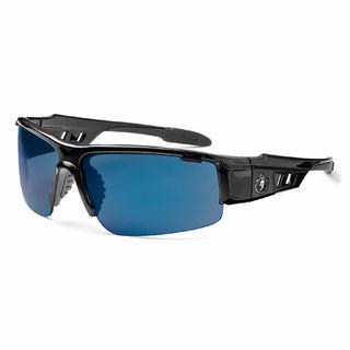 Ergodyne 52092 DAGR Blue Mirror Lens Black Safety Glasses