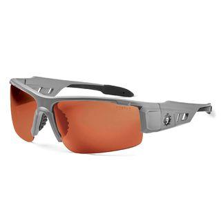 Ergodyne 52121 DAGR Polarized Copper Lens Matte Gray Safety Glasses