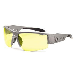 Ergodyne 52150 DAGR Yellow Lens Matte Gray Safety Glasses