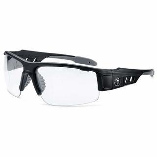 Ergodyne 52403 DAGR Anti-Fog Clear Lens Matte Black Safety Glasses