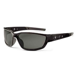 Ergodyne 53030 KVASIR Smoke Lens Black Safety Glasses