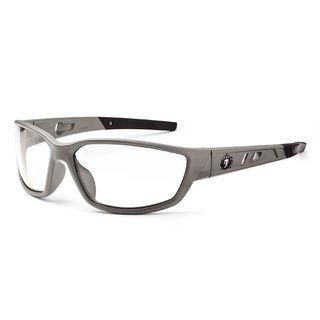 Ergodyne 53100 KVASIR Clear Lens Matte Gray Safety Glasses
