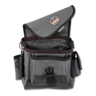Ergodyne 5516 5516  Gray Topped Tool Pouch - Strap Attachment