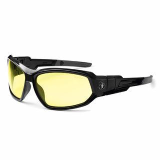 Ergodyne 56050 LOKI Yellow Lens Black Safety Glasses // Goggles