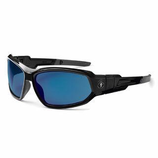 Ergodyne 56092 LOKI Blue Mirror Lens Black Safety Glasses // Goggles