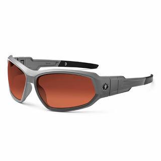 Ergodyne 56121 LOKI Polarized Copper Lens Matte Gray Safety Glasses // Goggles