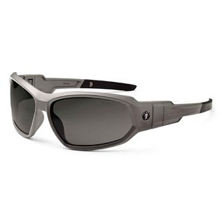 Ergodyne 56131 LOKI Polarized Smoke Lens Matte Gray Safety Glasses // Goggles