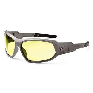 Ergodyne 56150 LOKI Yellow Lens Matte Gray Safety Glasses // Goggles