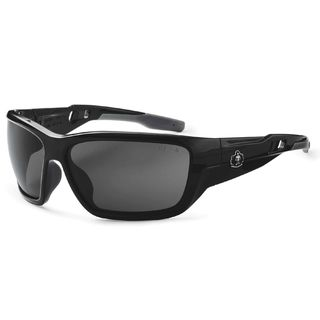 Ergodyne 57033 BALDR Anti-Fog Smoke Lens Black Safety Glasses