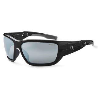 Ergodyne 57042 BALDR Silver Mirror Lens Black Safety Glasses