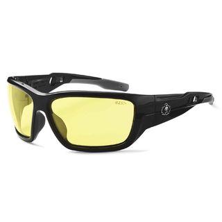 Ergodyne 57050 BALDR Yellow Lens Black Safety Glasses