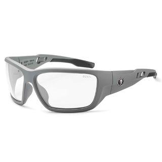 Ergodyne 57103 BALDR Anti-Fog Clear Lens Matte Gray Safety Glasses