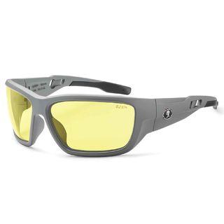 Ergodyne 57150 BALDR Yellow Lens Matte Gray Safety Glasses
