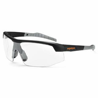 Ergodyne 59003 SKOLL Anti-Fog Clear Lens Matte Black Safety Glasses