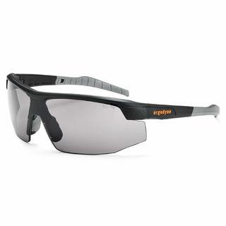 Ergodyne 59033 SKOLL Anti-Fog Smoke Lens Matte Black Safety Glasses