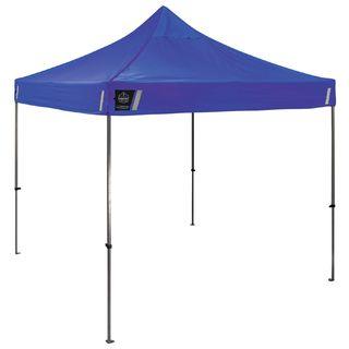 Ergodyne 6000 6000 Single Blue 10 x 10 Heavy-Duty Commercial Pop-Up Tent