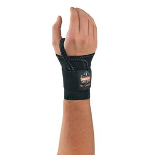 Ergodyne 70006 4000 L-Right Black Single Strap Wrist Support