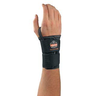 Ergodyne 70026 4010 L-Right Black Double Strap Wrist Support