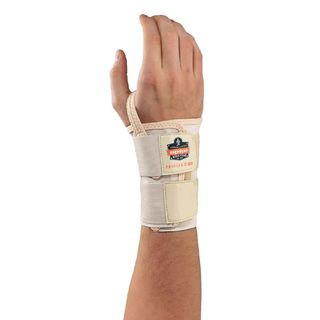 Ergodyne 70126 4010 L-Right Tan Double Strap Wrist Support