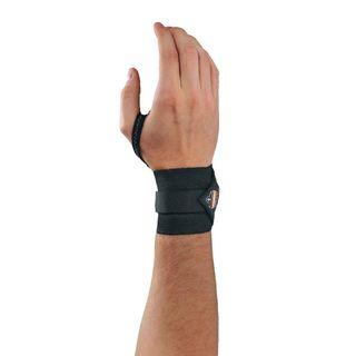 Ergodyne 72222 420 S/M Black Wrist Wrap w/Thumb Loop