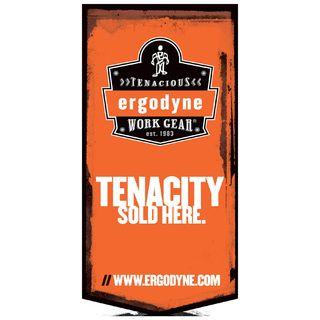 Ergodyne 99715 BANNER  Vertical - SM Tenacity Sold Here Banner