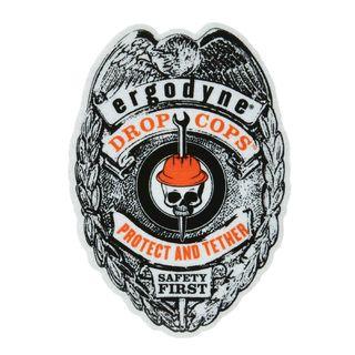 Ergodyne 99876 STICKER  Drop Cop Badge Stickers - Pack of 25