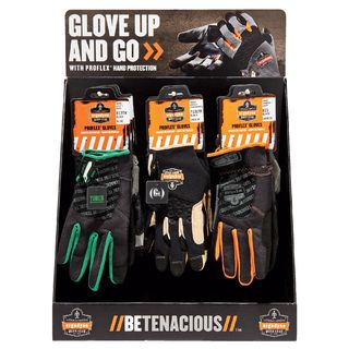 Ergodyne 99926 CTPLGKIT  Trades Gloves Large Corrugated Countertop Display
