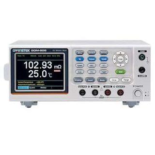 GW Instek GOM-805 DC Milliohm Meter with GPIB and Dry Circuit; 100-240 V, 50/60 Hz