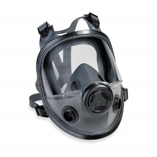 North 5400 Series Dual cartridge elastomeric full facepiece with four strap headband, SM