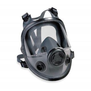 North 5400 Series Dual cartridge elastomeric full facepiece with four strap headband, SM