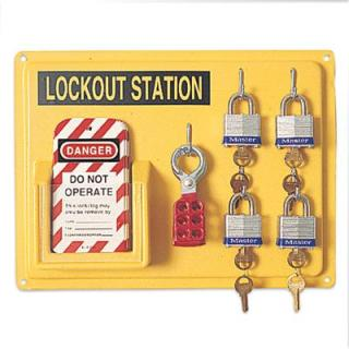 lockouttagout loto stations four lockout station 11 x 14 - Lock Out Tag Out Kits