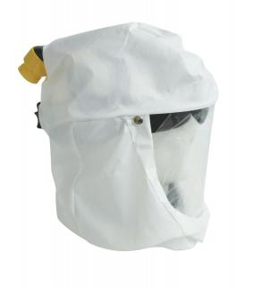 Primair 100 Series Hood with bibbed, Tychem QC hood with collar and adjustable headgear