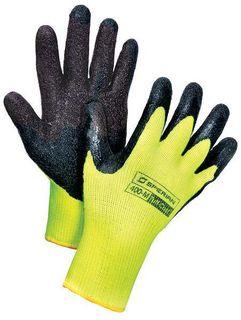 Honeywell Safety 400-M 10 cut, Medium weight brushed acrylic, Hi-Viz yellow with black natural rubbe