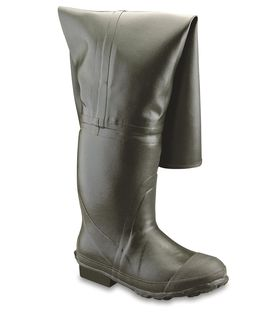 Rubber Hip Boot, Insulated, Plain Toe