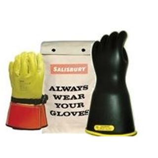 "Honeywell Safety GK114YB/10 Lineman Glove Kit With Leather Protectors & Bag Class 1 14"" Yel"