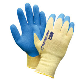 Honeywell Safety KV303-L 10 cut, Medium weight yellow KEVLAR /steel/poly blend knit shell with black
