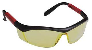Honeywell Safety T57505BA 'Tornado F5'' safety glasses, black & red frame, curved