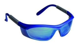 Honeywell Safety T57505BLBLM 'Tornado F5'' safety glasses, blue & gray frame, cur