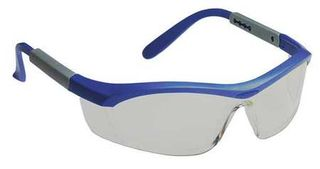 Honeywell Safety T57505BL 'Tornado F5'' safety glasses, blue & gray frame, curved