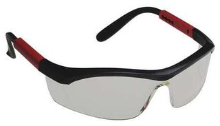 Honeywell Safety T57505BS 'Tornado F5'' safety glasses, black & red frame, curved