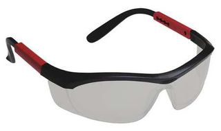 Honeywell Safety T57505BTCG 'Tornado F5'' safety glasses, black & red frame, curv