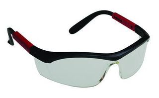 Honeywell Safety T57505B 'Tornado F5'' safety glasses, black & red frame, curved