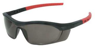 Honeywell Safety T58505BTCG 'Tornado F5'' safety glasses, black & red frame, stra
