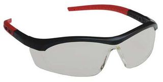 Honeywell Safety T58505B 'Tornado F5'' safety glasses, black & red frame, straigh