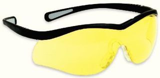 Honeywell Safety T65005A 'Lightning'' safety glasses, black frame - amber lens - 10 e