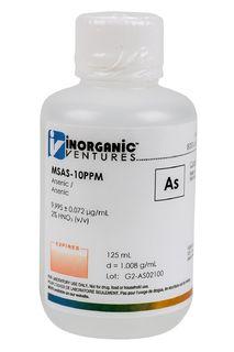 Inorganic Ventures MSAS-10PPM-125ML 10 ug/mL Arsenic Standard