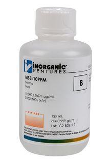 Inorganic Ventures MSB-10PPM-125ML 10 ug/mL Boron Standard