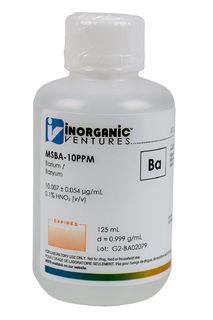 Inorganic Ventures MSBA-10PPM-125ML 10 ug/mL Barium Standard